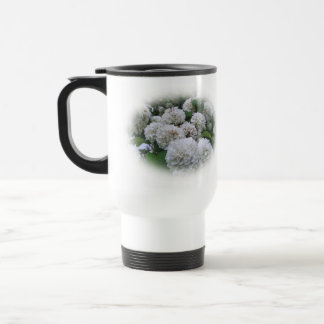 Travel Mug - Haloed White Hydrangea