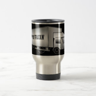 TRAVEL MUG - KEEP ON TRUCKIN' - BLACK/SILVER TRUCK