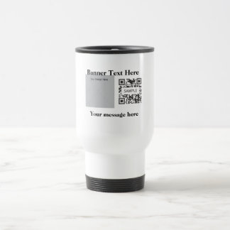 Travel Mug Template Generic Square Shape
