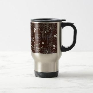 Travel Mug with Brown Abstract Design