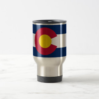 Travel Mug with Flag of  Colorado State - USA