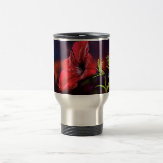 travel mug with flower design