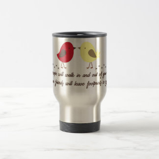 Travel mug with friendship quote