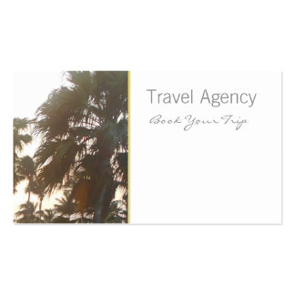 Travel, Palm tree business cards