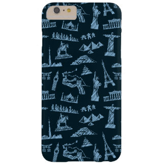 Travel Pattern In Blues Pattern Barely There iPhone 6 Plus Case
