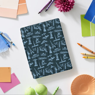 Travel Pattern In Blues Pattern iPad Cover