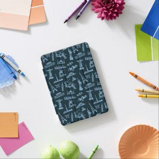 Travel Pattern In Blues Pattern iPad Mini Cover