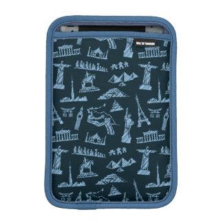 Travel Pattern In Blues Pattern iPad Mini Sleeves