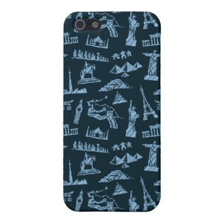 Travel Pattern In Blues Pattern iPhone 5/5S Case