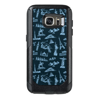 Travel Pattern In Blues Pattern OtterBox Samsung Galaxy S7 Case