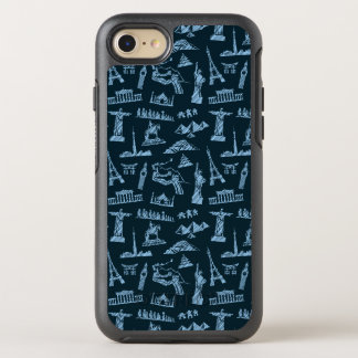 Travel Pattern In Blues Pattern OtterBox Symmetry iPhone 8/7 Case
