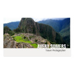 Travel Photographer Add a Large Photo Photography Pack Of Standard Business Cards