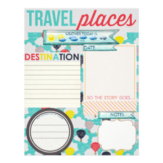 Travel Places Travel Journal Insert Letterhead