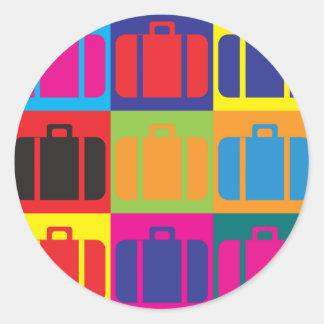Travel Pop Art Round Sticker