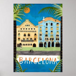 travel  POSTER, Barcelona,Spain Poster