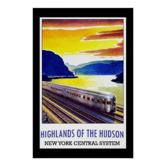 Travel Poster Vintage Hudson New York