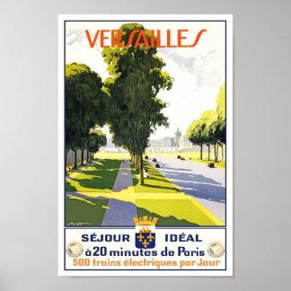 Travel Poster Vintage Versailles Paris Train