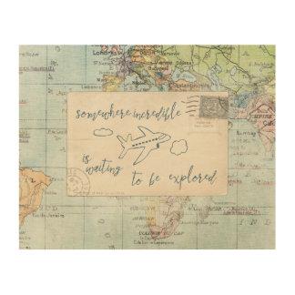 Travel Posts IV 4 Wood Print