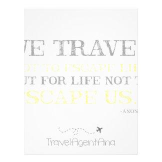Travel Quote Customized Letterhead