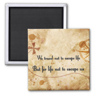 Travel quote magnet