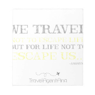 Travel Quote Notepad