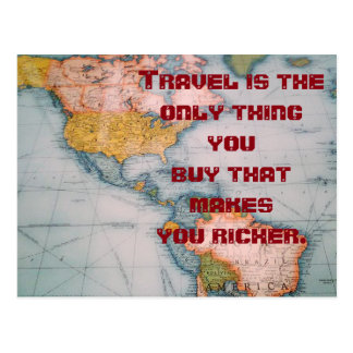 Travel quote - postcard