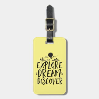Travel Quotes Explore Dream Discover Luggage Tag