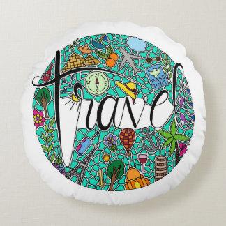 Travel Round Pillow