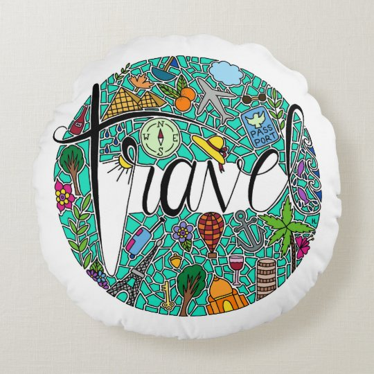Travel Round Pillow