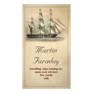 travel ship boat beautiful old business card standard business cards
