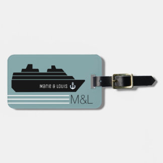 travel ship cruising personalized luggage tag