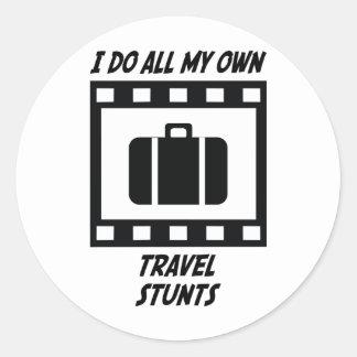 Travel Stunts Classic Round Sticker