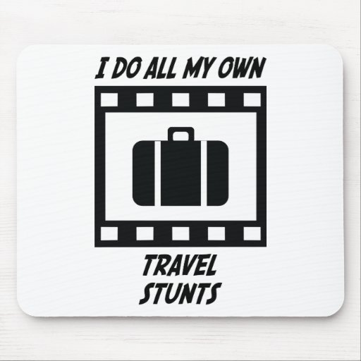Travel Stunts Mouse Pad