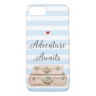 Travel Suitcases iPhone 8 Case - Adventure Awaits