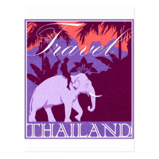 Travel Thailand white elephant Postcard