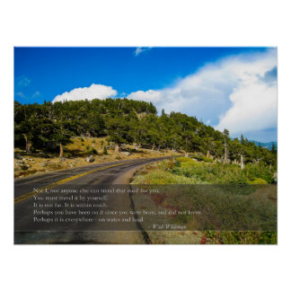 Travel that Road Whitman Quote Poster