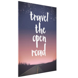 Travel the open road canvas print