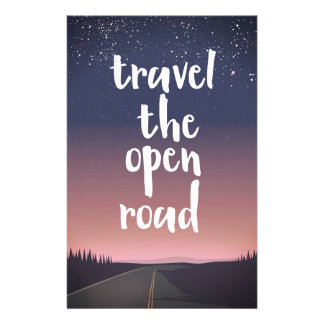 Travel the open road stationery