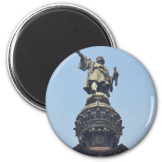 Travel the World - Columbus Pointing out to Sea Magnet