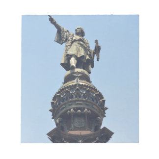 Travel the World - Columbus Pointing out to Sea Notepad