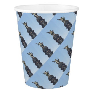 Travel the World - Columbus Pointing out to Sea Paper Cup