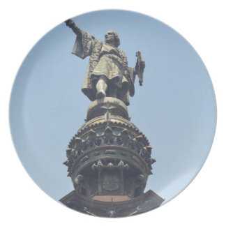 Travel the World - Columbus Pointing out to Sea Plate