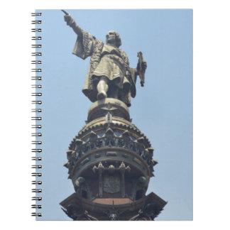Travel the World - Columbus Pointing out to Sea Spiral Notebook