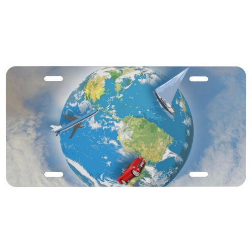 Travel the World License Plate