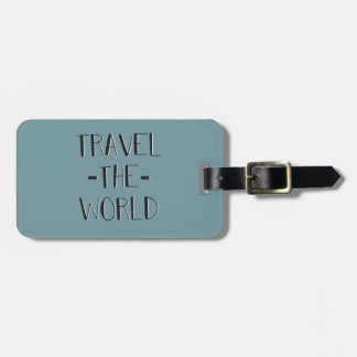 Travel The World Luggage Tag