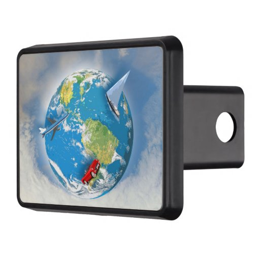 Travel the World Trailer Hitch Cover