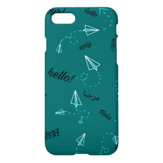 Travel Themed Phone Cases-Teal iPhone 8/7 Case