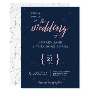 Travel Themed Wanderlust Wedding Invitation