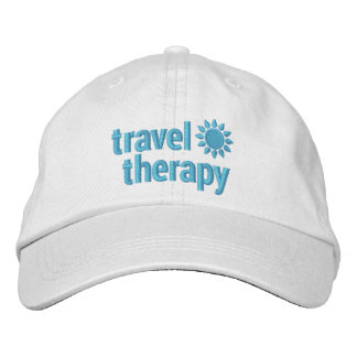 Travel Therapy Embroidered Baseball Hat Embroidered Baseball Cap