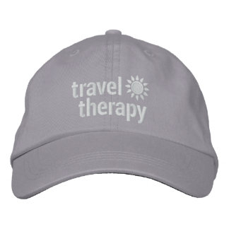 Travel Therapy Hat | Gray Embroidered Baseball Caps